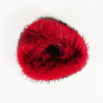 Versace NWOT Red Murmansky Fur Collar Scarf - $705.00