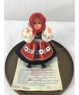 "Original vintage tiny doll, ""folklor""  in Case, open close eyes, made in... - $13.01"
