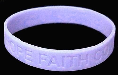 Periwinkle Awareness IMPERFECT Bracelets 6 Pc Lot Cancer Silicone Wristband 8""