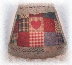 New! Country Prim Tea Dyed Checkered Shade Night Light - $17.99