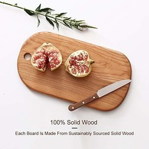 Wooden Cheese Crackers Serving Board With Handle, Small Pizza Stone Peel... - $41.21
