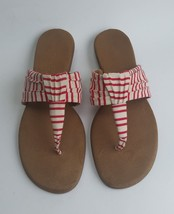 Aerosoles Shoes Flip Flops Red White Multi-Color Thong Womens Size 11 - $27.68