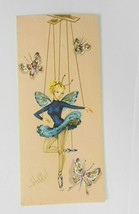 Vintage Sunshine Greeting Card Get Well Ballerina Fairy Marionette Unused - $12.86
