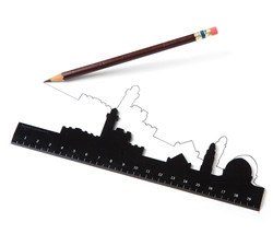 Boss Gifts Funky Design Ruler Office Home School Stationery Jerusalem Sk... - $14.00