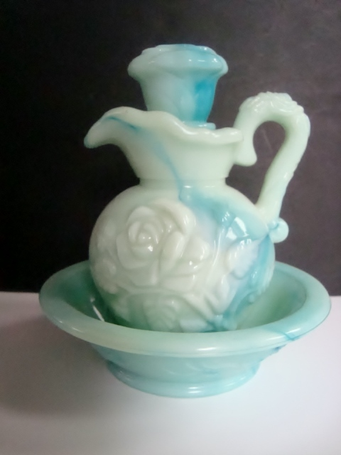 Primary image for Avon Blue Green Pitcher and Bowl