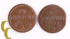 1797A-1798A France Centime Lot (VF-XF, 2 coins) Paris Mint (L'AN 6 & 7) ... - $99.00