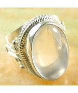 RING Sterling Silver 925 ROSE QUARTZ Women's Sz... - $9.79