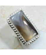 RING Sterling Silver 925 BOTSWANA AGATE Women's... - $11.75