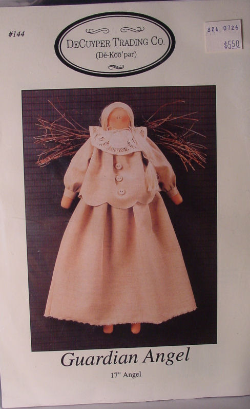 "Primary image for Doll Pattern Primitive ""Guardian Angel"" 17"""