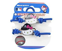 Detroit Tigers Hello Kitty Blue Hair Tie Bracelet Two Piece Set Jewelry MLB - $9.89