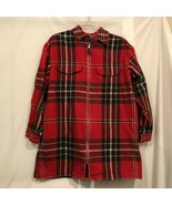 Lauren Ralph Lauren Plaid Flannel Shirt Jacket Womens Size Small Red Ful... - $22.99