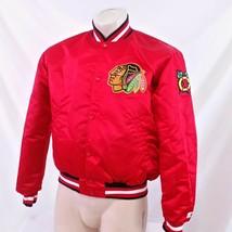 Vintage Chicago Blackhawks Starter Satin Jacket 90s Coat NHL Center Ice ... - $99.99