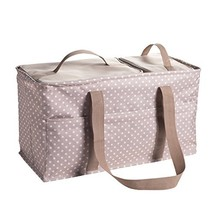 Large Utility Tote Bag With Handles, 2 Zippered Coolers, Heavy Duty Fabr... - $65.37
