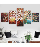 5Pcs Flower Tree Abstract Canvas Print Paintings Pictures Art Home Decor... - $17.09