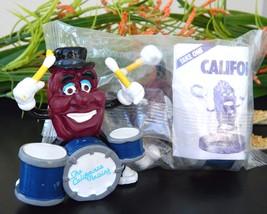 2 Vintage California Raisin Drummers 1988 PVC Figurine Toy Calrab NIP - $15.95