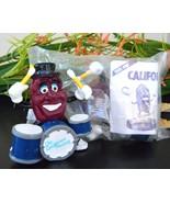 2 vintage california raisin drummers 1988 pvc figurine toy nip calrab thumbtall