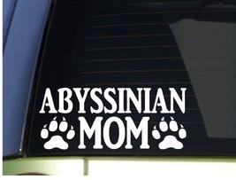 Abyssinian Mom sticker *H288* 8.5 inch wide vinyl cat kitten litter box - $3.99