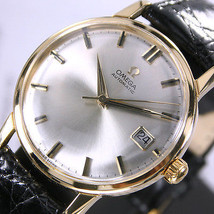 1961 Vintage Omega Cal 562 18K Solid Gold Automatic Silver Dial Date Men... - $3,006.84