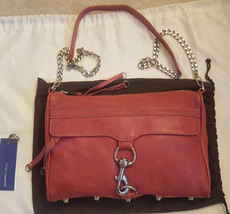 Rebecca Minkoff rose pink leather Morning After Clutch MAC crossbody - $68.00