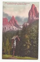 Italy Alps Roadside Shrine Tschamintal Sattelspitze Vintage Postcard - $4.99