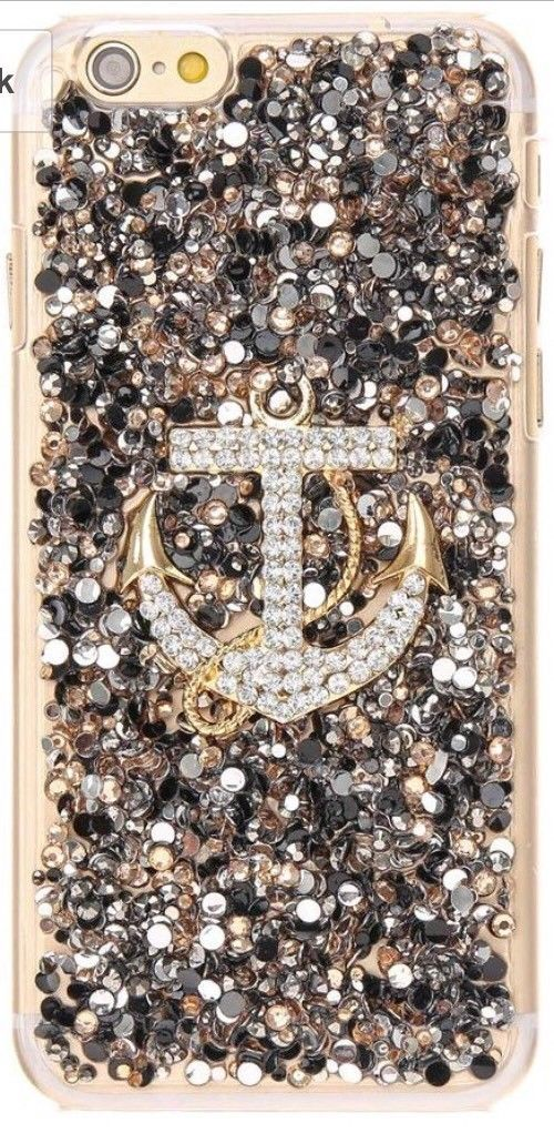 New In Package ICING Crystal Embellished Anchor Jeweled iPhone 7 Case