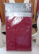 """winter Cranberry red fabric tablecloth 60"""" x 84"""" oblong - $9.50"""