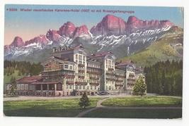 Italy Alps Karersee Hotel Rosengartengruppe Alps Vintage Postcard - $7.99