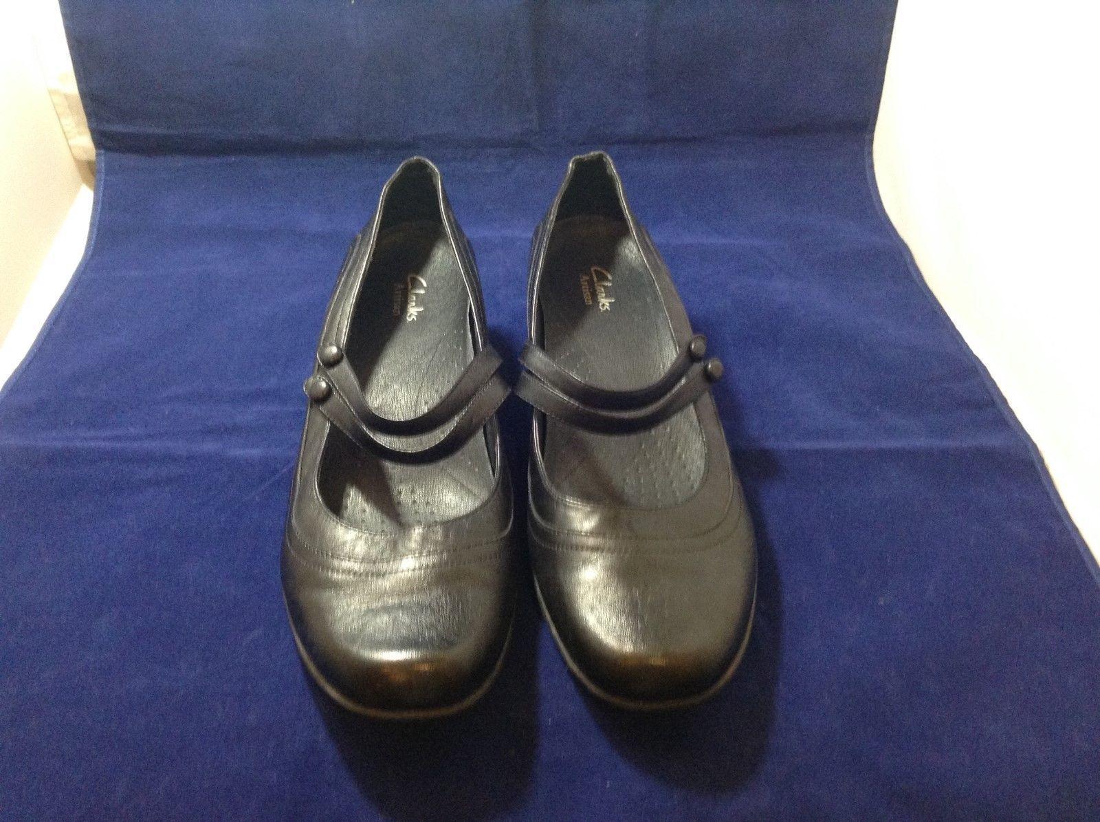 Clark's Active Air Women's Black Comfortable Casual Dress Shoes Sz 10M