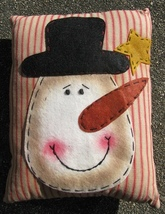 Christmas Decor Pillow  51384SP-Snowman Face   - $7.95