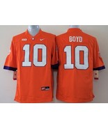 Men's Clemson Tigers 10 Tajh Boyd Orange College Football Jersey - $42.99