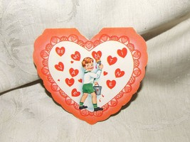VINTAGE 1950s One Fold BE MY VALENTINE Painting Boy A-Meri-Card USA - $9.90