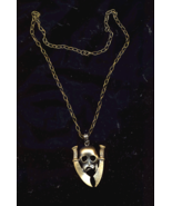 Scull & Sword Brass Necklace - $10.00