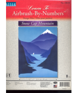 Snow Cap Mountain Airbrush By Numbers - $5.00