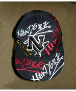 New York New York Embroidered Black Baseball Cap Med. - $10.00