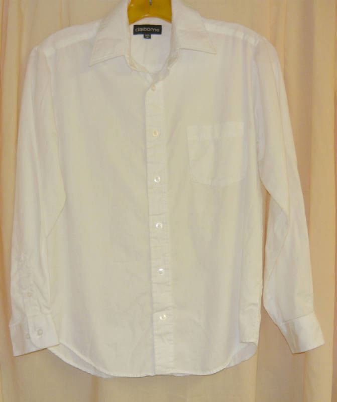 Primary image for Claiborne White cotton twill Shirt-14