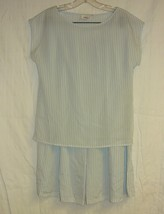 Light Blue And White Striped Light Two Piece Outfit Sz. 10 - $10.00