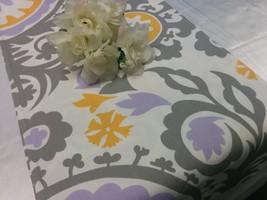 LAVENDER DAMASK RUNNER - large damask print lavender, lilac, light purpl... - $11.00