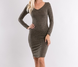 Long Sleeve Sweater Dress, Sweater Dresses, Bodycon Sweater Dress, Olive Green