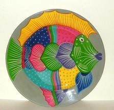 Hand Painted 16 inch Colorful Mexican Talavera Clay Pottery Hanging Fish... - $22.00