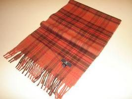 Red chekked scarf, shawl made of Babyalpaca wool  - $62.40