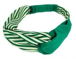 Fashion Naval Stripe Headband Soft Headbands With Elastic GREEN