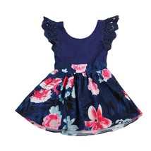 2017 Fashion Toddler Kids Girls Lace Floral Summer Dresses  Party Dress ... - $11.18+