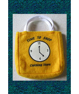 Doll Yellow Felt SHOPPING TOTE BAG Purse Clothes Accessories New 1998 Vi... - $2.99