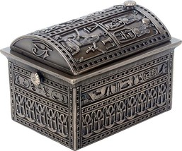 3.5 Inch Bronze Colored Egyptian Box with Different Print and Patterns - $32.66