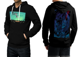 Portal  Black Cotton Hoodie For Men - $39.99