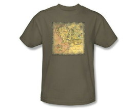The Lord of the Rings Movie Middle Earth Map Image T-Shirt NEW UNWORN - $17.99