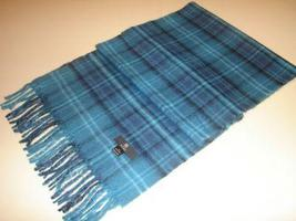 Blue chekked scarf,shawl made of  Babyalpaca wool  - $62.40