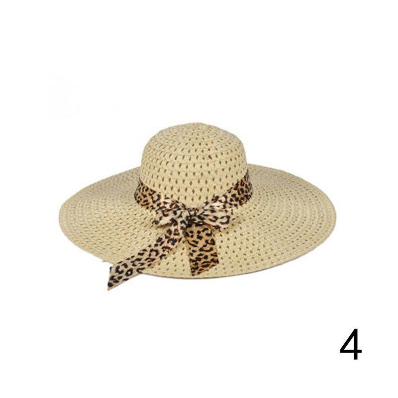 Huation 2019 New Sun Hats for Women Girls Wide Brim Floppy Straw Hat Summer Bohe image 4