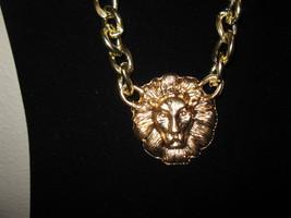 Stylish Gold Chunky Lion Necklace New & Hot! #D659 - $15.99