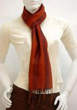 Red Scarf, shawl made of Babyalpaca wool and Silk  - $81.90